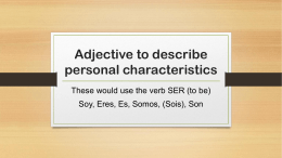 PPT: Voc to describe personal characteristics