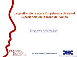 Proyecto La Roca del Valles
