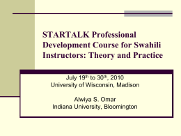 Startalk 2010 Proficiency and OPI Implications