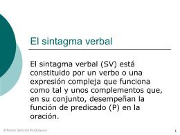 El sintagma verbal - IES Fuente de la Peña