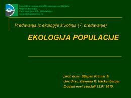 EKOLOGIJA POPULACIJE - Odjel za biologiju