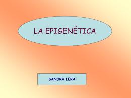 LA EPIGENÉTICA