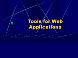 Tools for Web Apps