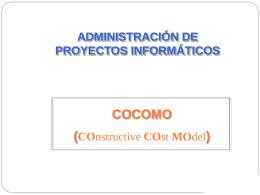 El modelo COCOMO - Jose Luis Bravo