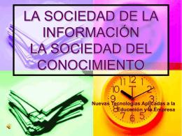 la sociedad de la información la sociedad del conocimiento