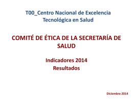 Resultados - Centro Nacional de Excelencia Tecnologica en Salud