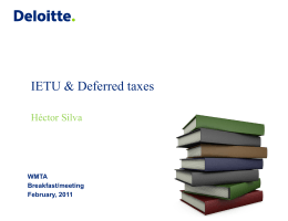 IETU & Deferred taxes Héctor Silva