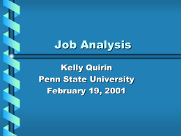 Job Analysis Methodology (Quirin)