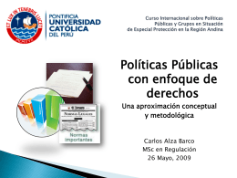 Políticas públicas con enfoque de derechos