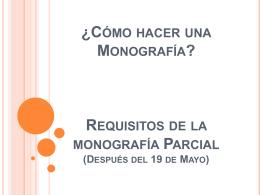 Clase Monografía y Citas