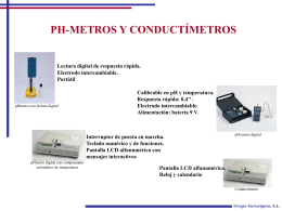 PH-metro y conductimetros