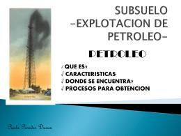 SUSTENTACIÓN QUIMICA - Subsuelo