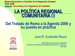 Política regional comunitaria (presentación pp