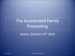 An accelerated familial procedure, Family affairs courts and Bar, Berlin