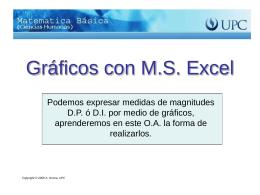 Gráficos con M.S. Excel