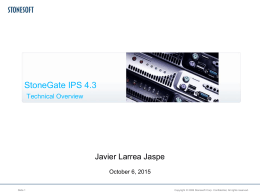StoneGate IPS 2.0 Technical Overview
