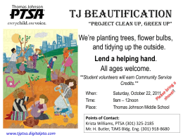 "TJ Beautification ""Project Clean up, green Up"""
