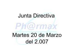 Presentación Junta Directiva Mayo de 2007