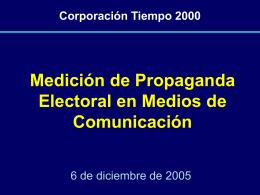 Medición Gasto Electoral 2005
