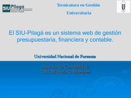 Presentación SIU Pilagás - Universidad Nacional de Formosa