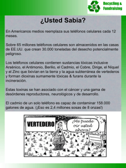 ¿Usted Sabia? - Recycling and Fundraising