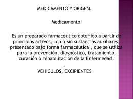 forma farmacéutica de los medicamentos
