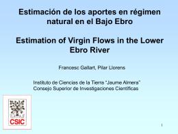 Presentación de Francesc Gallart y Pilar Llorens