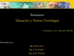 versión en PowerPoint - Ciencias de la Educación