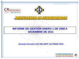 Diapositiva 1 - Beneficencia de Cundinamarca