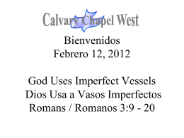 Romanos 3:9-12 - Calvary Chapel West