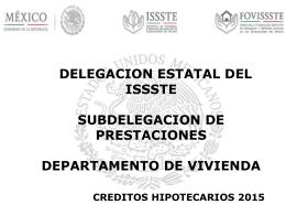Presentación Créditos hipotecarios 2015