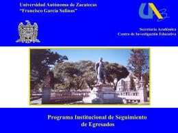 INFORME GENERAL DEL SEGUIMIENTO DE EGRESADOS U.A.Z.