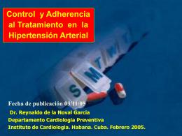 Control y adherencia al tratamiento de la HTA