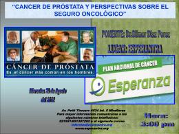 Afiche Cancer de Próstata y Perspectivas sobre el