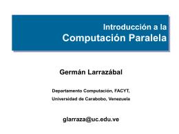 Paralelismo - Universidad de Carabobo