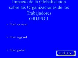 Impacto de la Globalizacion sobre las