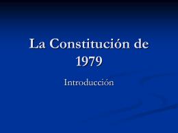 La Constitución de 1979