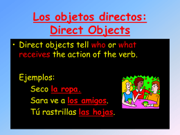 Los complemento directos o Direct Object Pronouns (DOP`s)