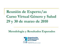 Reunión de Experto/as Curso Virtual Género y Salud
