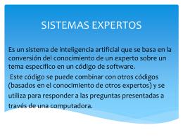 Fundamentos de sistemas expertos