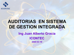 experiencias auditoria combinada en sistema de gestion integrada