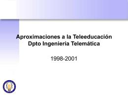 Presentación PPT - Departamento de Ingeniería Telemática