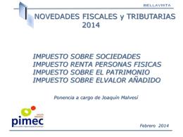 Novedades Fiscales y Tributarias 2014