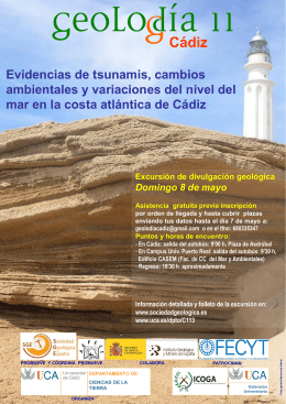 Cartel Geolodia 11 Cádiz