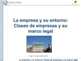 Tema 2. Clases de empresas y su marco legal