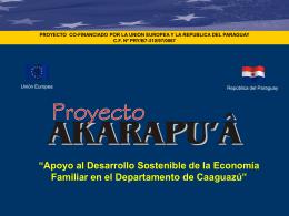 Proyecto Akarapua set. 2004