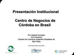 presentación de Cordobra en San Pablo.