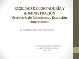 La organización y gestión del PIT