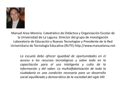 MANUEL AREA MOREIRA. Catedrático de Didáctica y Organización