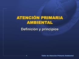 Atención Primaria Ambiental INFORMACIÓN